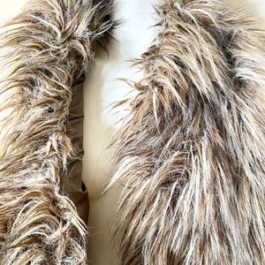 Kenar Jackets & Coats - Kenar Taupe Grey Faux Fur Vest M